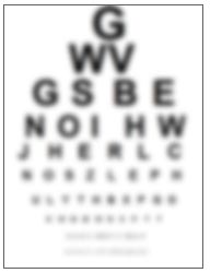 blurry eyechart